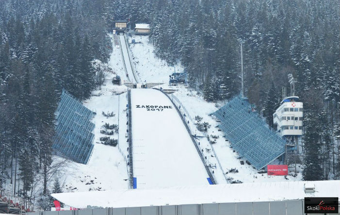 Welded gratings for the ski jumping hill in Zakopane